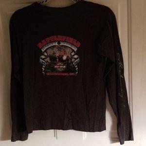 Harley davidson Henley t shirt